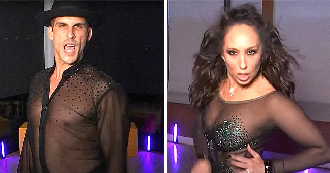 """Cheryl Burke and Cody Rigby perfoming virtually on """"Dancing With The Stars"""", October 2021 