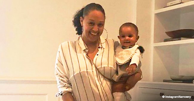 Tia Mowry's daughter Cairo is her mini-me as they flash matching smiles in new photo