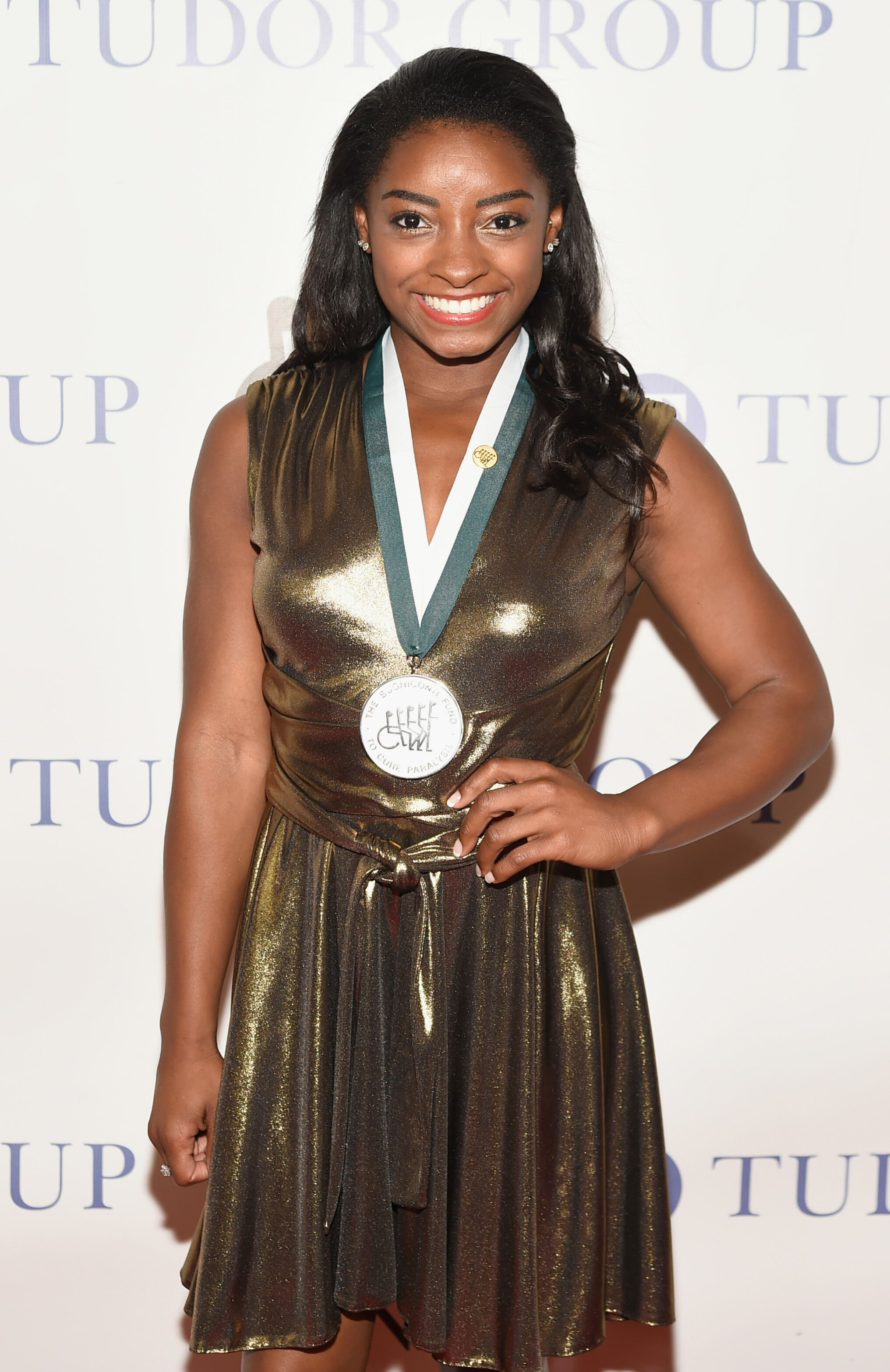 Simone Biles attends the 32nd Annual Great Sports Legends Dinner at New York Hilton Midtown on September 25, 2017 . | Photo: Getty Images