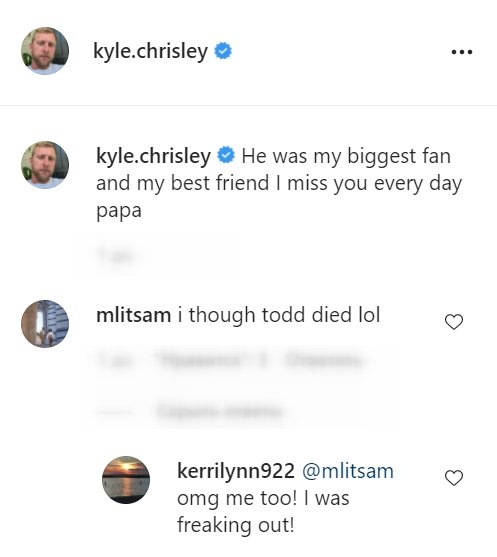 A screenshot of fans' comments on Kyle Chrisley's Instagram post | Photo: Instagram/kyle.chrisley