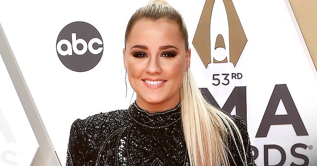 Check Out Pregnant Gabby Barrett's Classic Black Pant Suit as She Performs at the CMA Awards