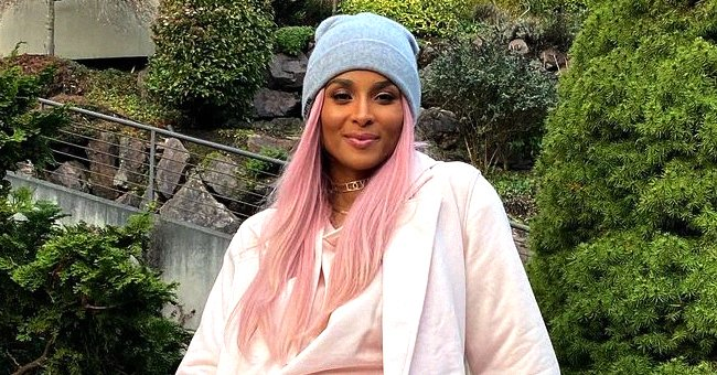Ciara Looks Stylish Walking with Her Huge Dogs Outdoors as She Opts for an All-Pink Look