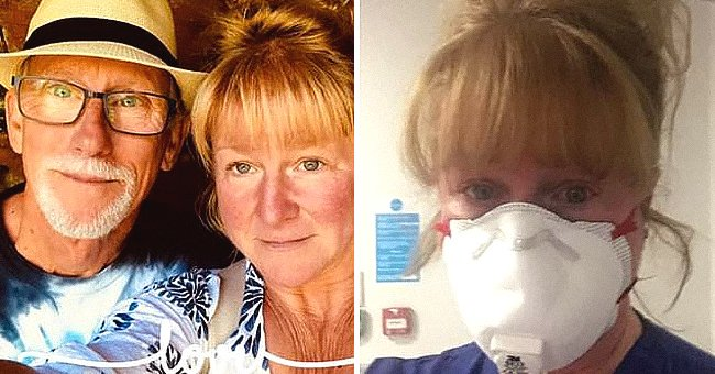 Woman takes selfie with a face mask | Photo: twitter.com/MailOnline
