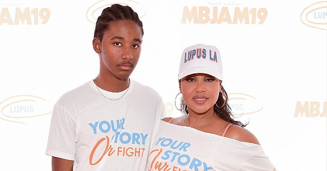 Toni Braxton's Son Diezel Shows His Muscles in a Tank Top as He Hugs a Mystery Girl (Photo)