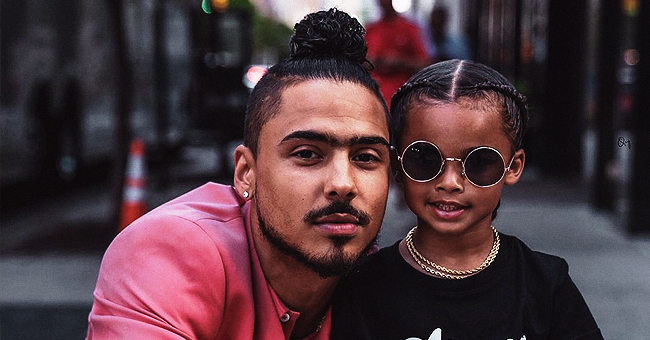 Kim Porter's Son Quincy Brown Enjoys Being 'Role Model' to Kids in Photos with a Cute Little Guy