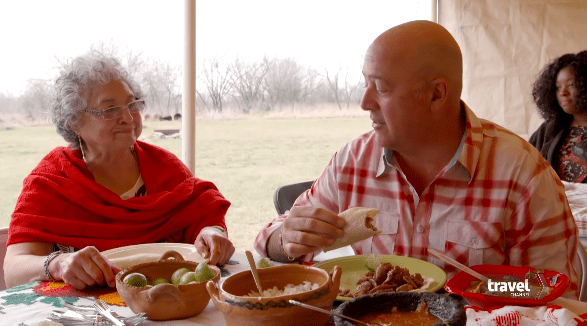 """Andrew Zimmern in an episode of """"Bizarre Foods"""" in 2017   Photo: YouTube/Travel Channel"""