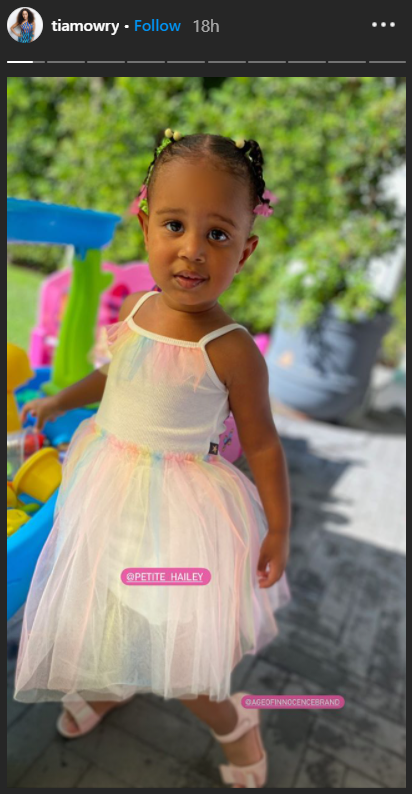 An adorable picture of Cairo in a gorgeous princess dress on Tia Mowry's Instagram story | Photo: Instagram/tiamowry
