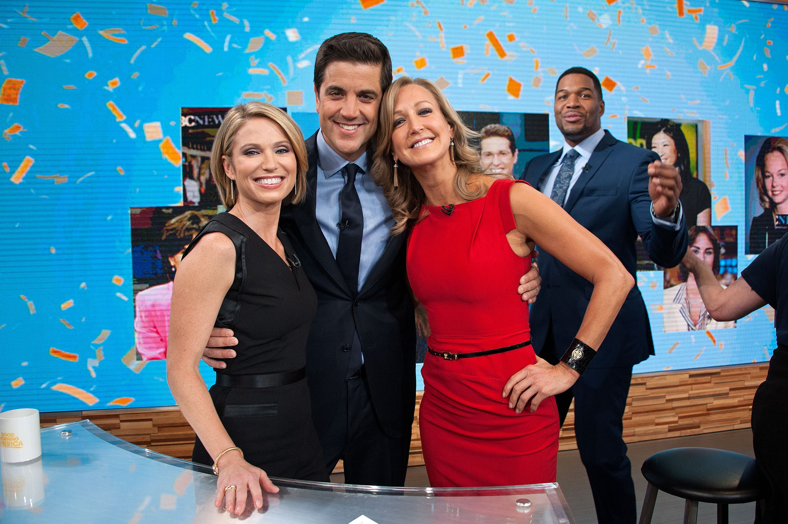 Amy Robach, Josh Elliott, Lara Spencer, Michael Strahan. Image Credit: Getty Images