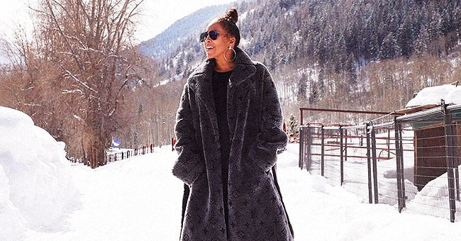 Steve Harvey's Wife Marjorie Warms up in Grey Louis Vuitton Coat as She Poses on the Snow in Nostalgic Post