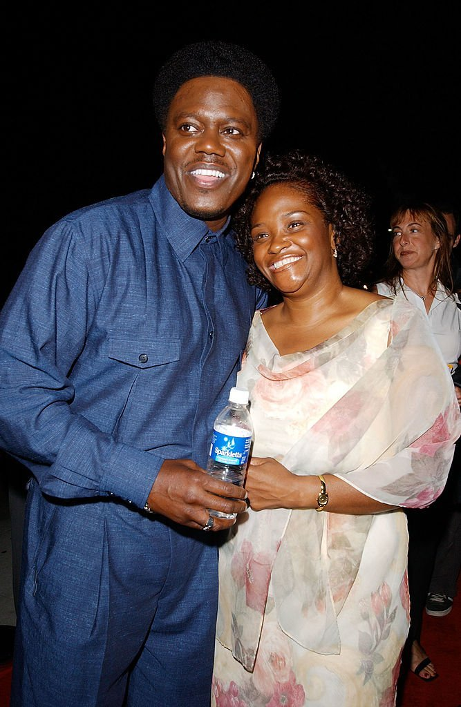 "Bernie Mac and wife Rhonda at the ""Bernie Mac Show"" season premiere party at Reign restaurant in Beverly Hills, Ca., September 17, 2002. 