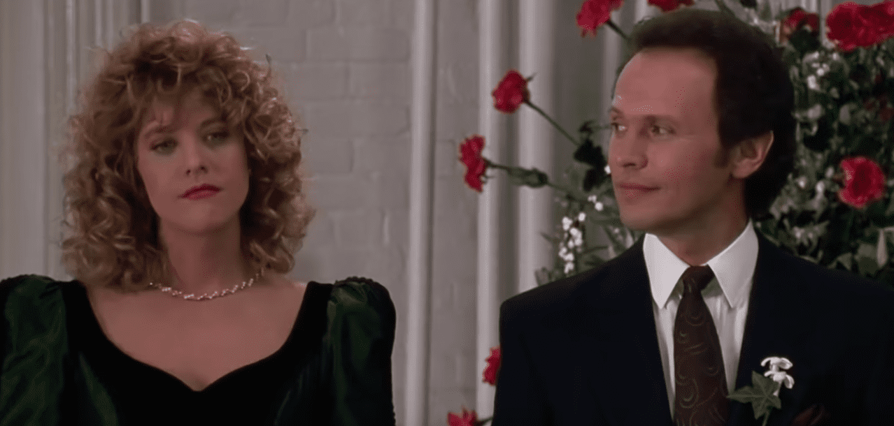 """Meg Ryan's Sally and Billy Crystal's Harry in the movie """"When Harry met Sally.""""   Source: YouTube/msmojo"""