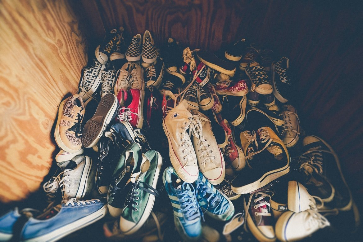 There were lots of shoes for the kids   Source: Unsplash
