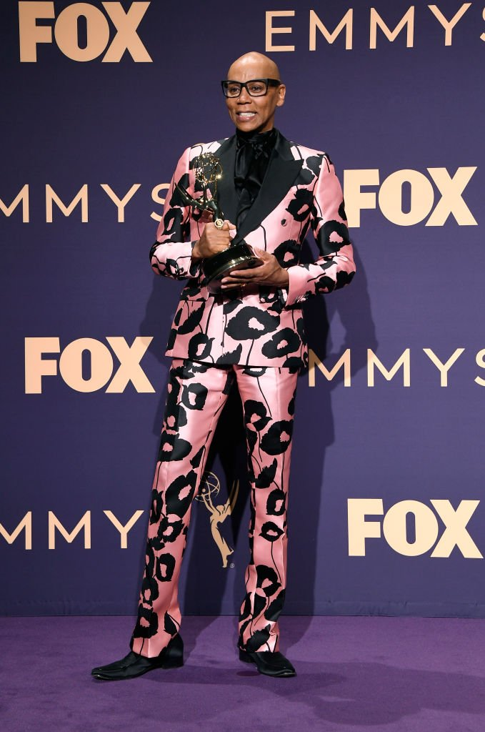 RuPaul poses with award for Outstanding Competition Program in the press room during the 71st Emmy Awards at Microsoft Theater   Getty Images