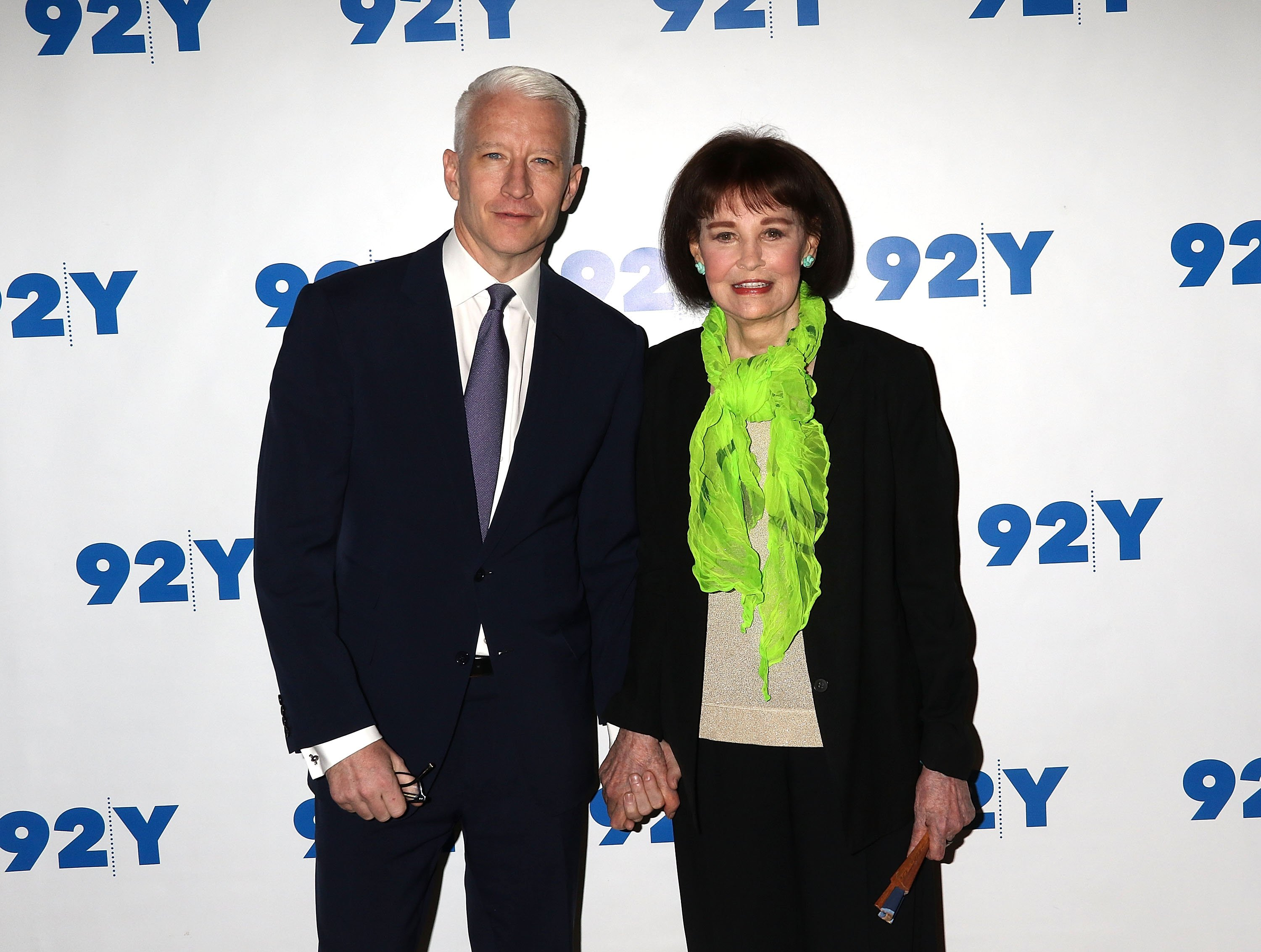 Anderson Cooper and Gloria Vanderbilt at 92nd Street Y on April 14, 2016, in New York City.   Source: Getty Images.