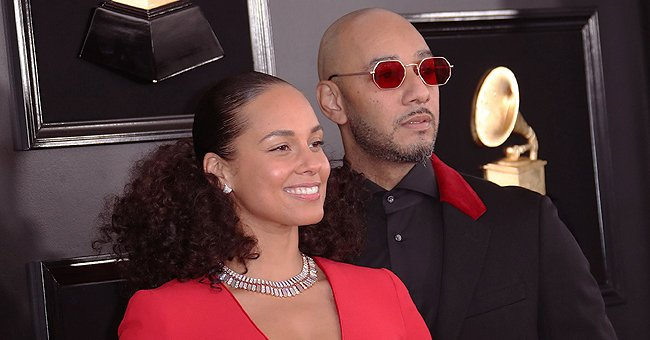 Fans Praise Alicia Keys & Her Husband Swizz Beatz as They Pose in Chic Outfits