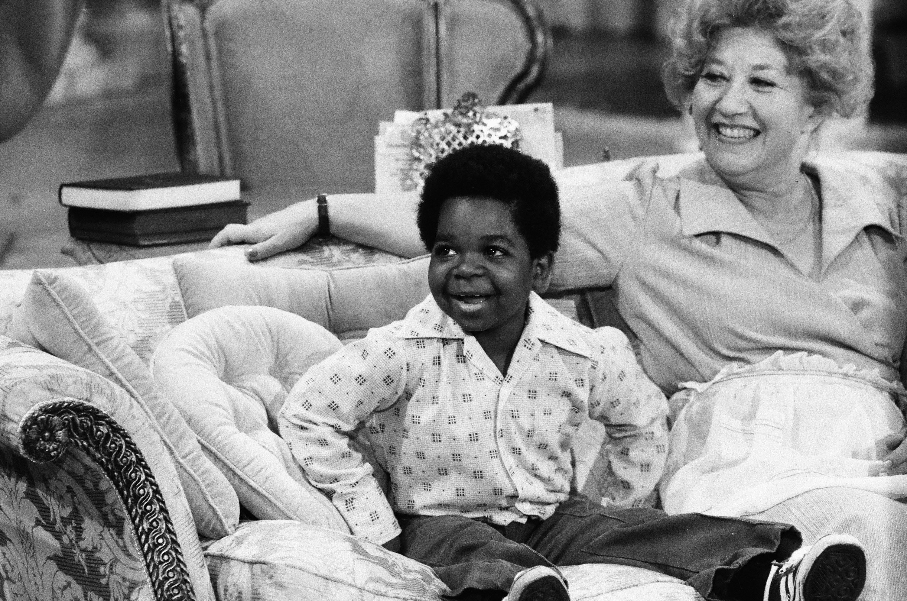 """Gary Coleman and Charlotte Rae on """"Diff'rent Strokes"""" in October 1978 