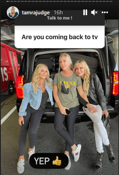 """A screengrab of """"The Real Housewives of Orange County"""" stars Tamra Judge, Vicki Gunvalson, and Shannon Beador   Source: Instagram/@tamrajudge"""