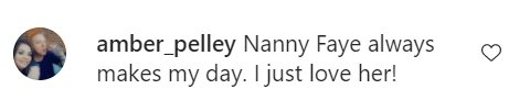 A fan's comment on Todd  and Nanny Faye's clip on Instagram | Photo: Instagram/toddchrisley