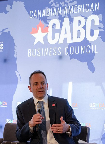 Governor Matt Bevin of Kentucky talks at the Prospects for USMCA Ratification Trilateral Dialogue on February 21, 2019 in Washington, DC. | Source: Getty Images.