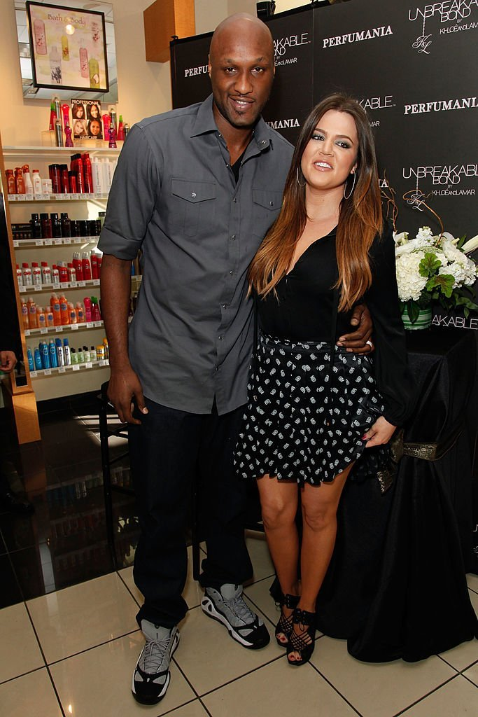 Lamar Odom and Khloe Kardashian make an appearance to promote their fragrance, 'Unbreakable Bond,' at Perfumania. | Photo: Getty Images