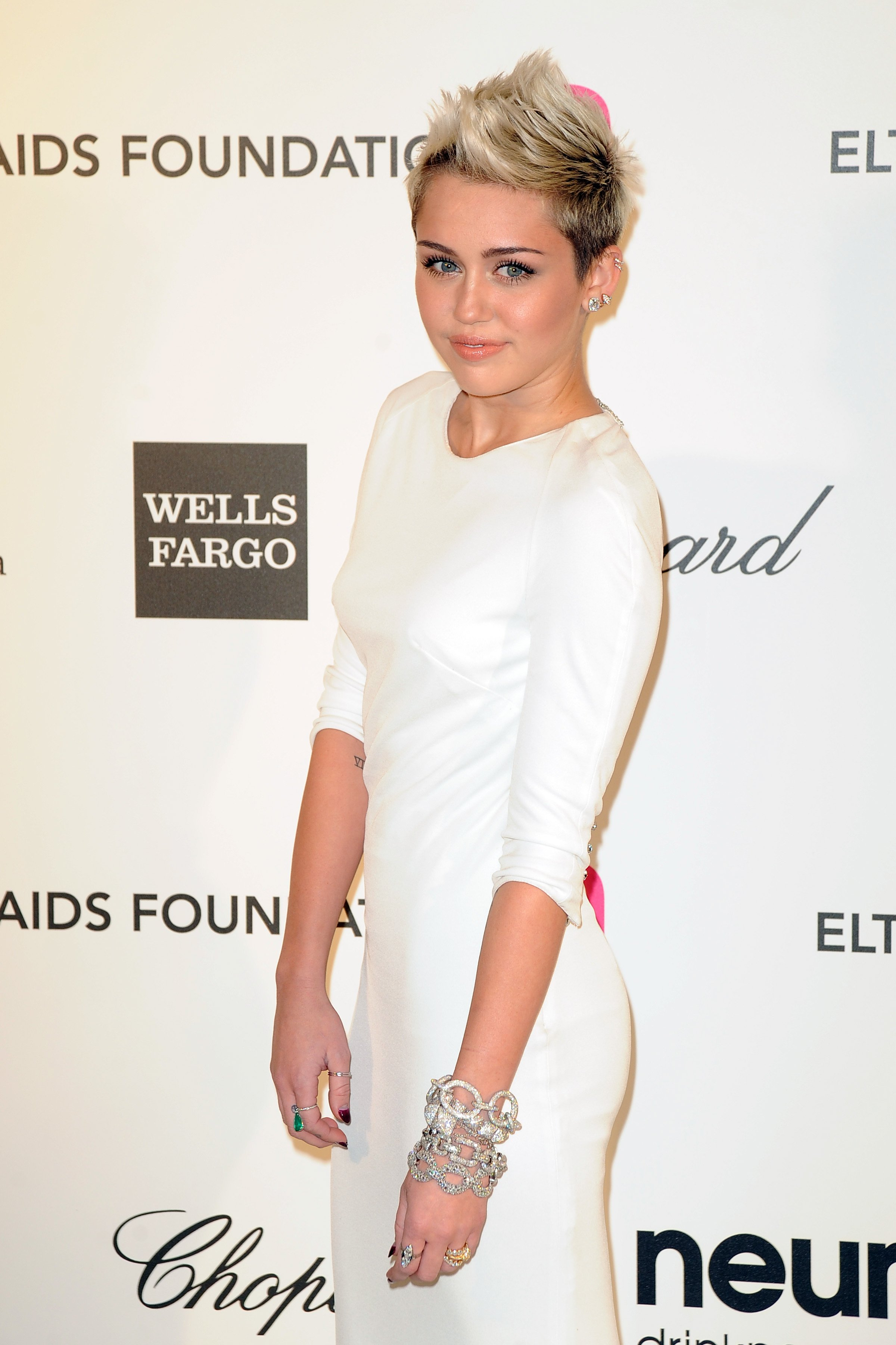 Miley Cyrus arrives at the Elton John Aids Foundation 21st Academy Awards Viewing Party | Source: Shutterstock