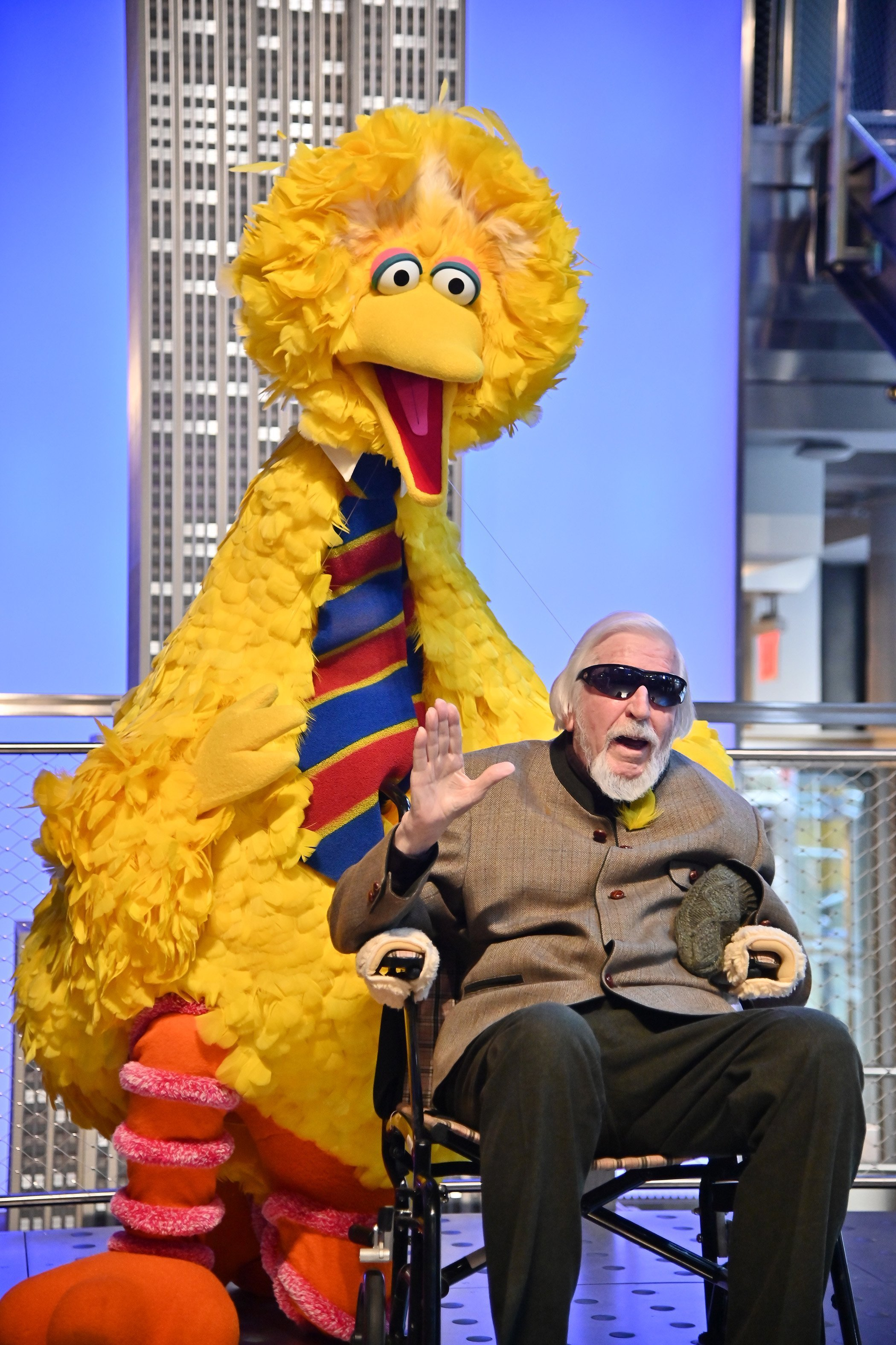 Caroll Spinney Light The Empire State Building at The Empire State Building on November 08, 2019, in New York City. | Source: Getty Images.