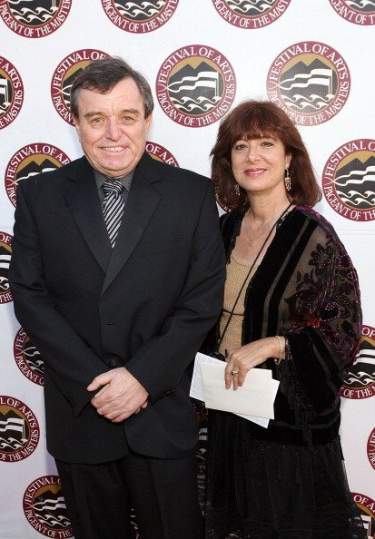Jerry Mathers and Teresa Modnick at the Irvine Bowl Park on August 23, 2008 in Laguna Beach, California.   Photo: Getty Images