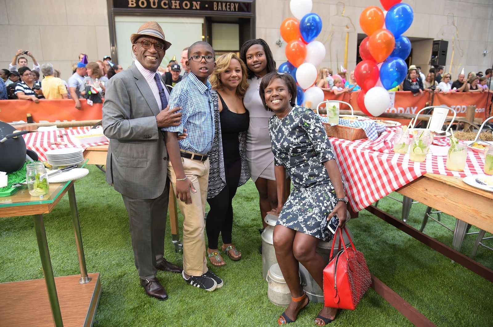 """Al Roker and his Family on the """"Today"""" show on August 20, 2014  Photo: Michael Loccisano/NBC/NBC Newswire/NBCUniversal/Getty Images"""
