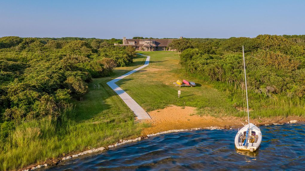 Wyc Grousbeck residence in Martha's Vineyard -view from the beach/ Source: realtor.com