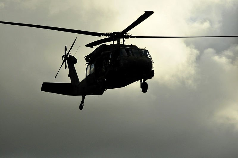 Unmarked black helicopters have been described in conspiracy theories since the 1970s | Source: Wikimedia Commons/Capt. Richard Barker
