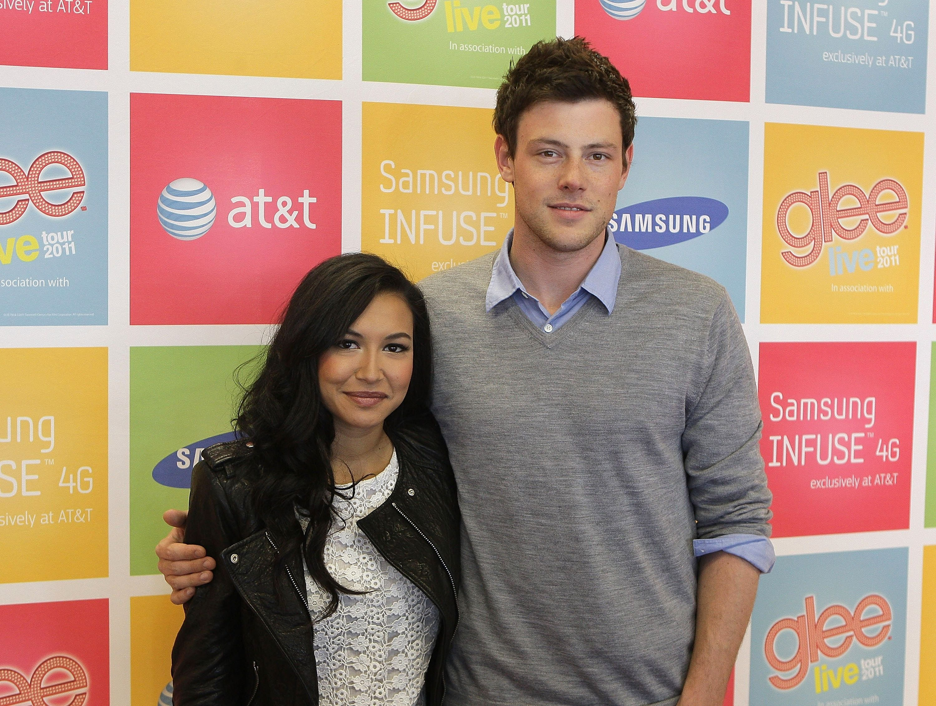 "Naya Rivera and Cory Monteith during the  ""GLEE Live Tour"" Fan Event in May 2011 in San Jose, California 