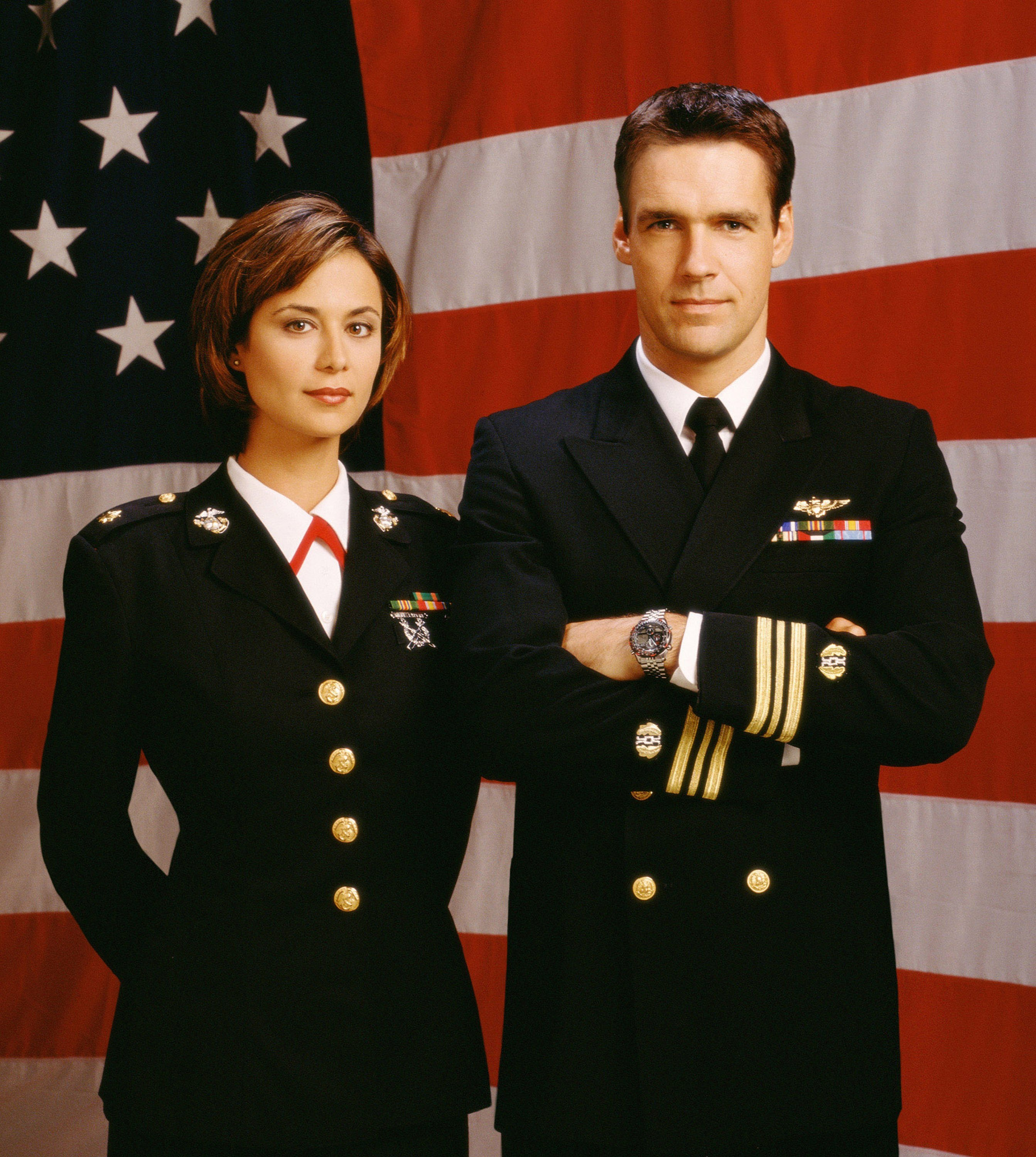 """Catherine Bell and David James Elliott star in """"JAG"""" 