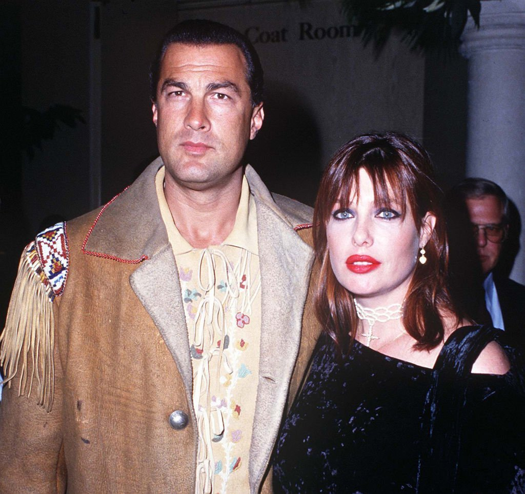 American actor Steven Seagal with his wife, model and actress Kelly LeBrock | Photo: Getty Images