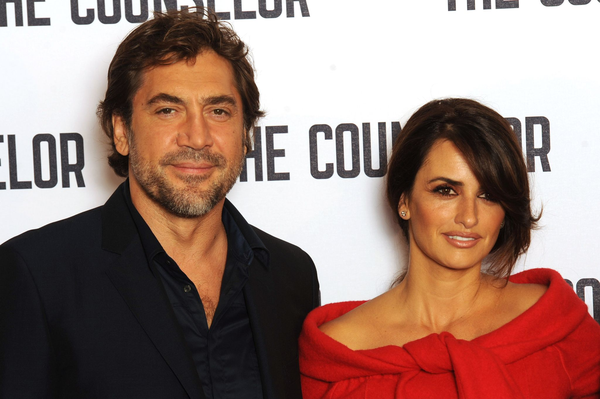 Javier Bardem and Penelope Cruz at a photocall for 'The Counselor' in 2013 in London, England