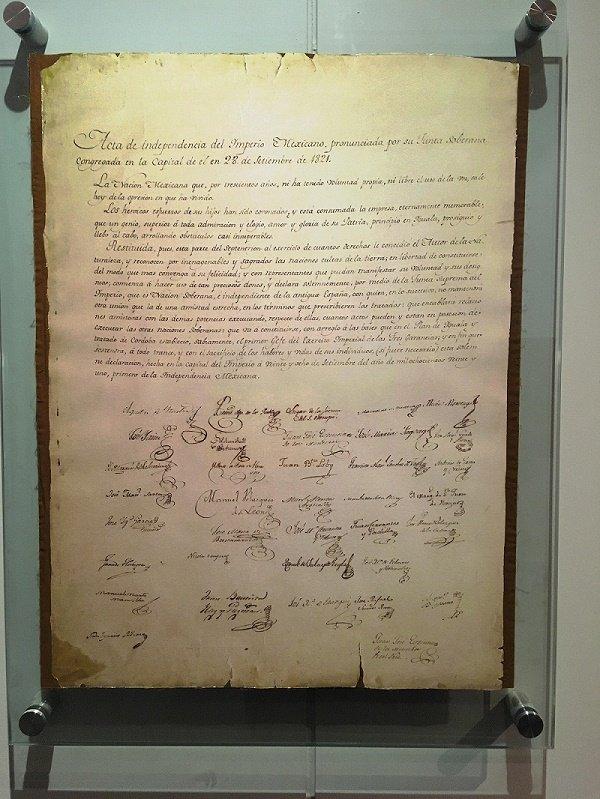 El 28 de Septiembre de 1821, se firmó el Acta de Independencia de México.| Fuente: Wikimedia Commons