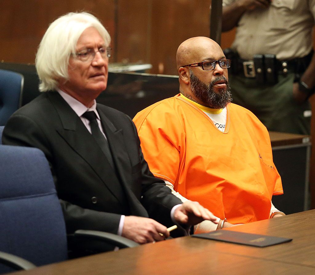 Suge Knight at his trial for the murder of Terry Carter/ Source: Getty Images