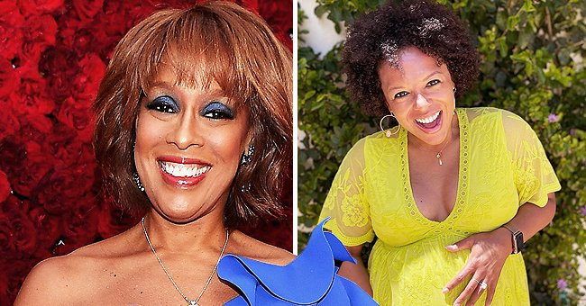 Gayle King Reacts after Her Daughter Kirby Embraces Her Big Baby Bump Posing in a Cleavage Dress
