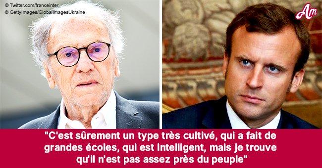 """""""Il n'a jamais eu faim"""": Jean-Louis Trintignant s'attaque sévèrement à Emmanuel Macron"""