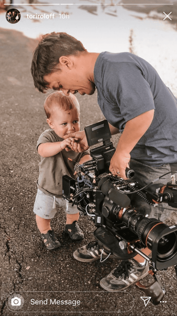 Tori Roloff shares behind the scenes images of Zach and Jackson | Instagram