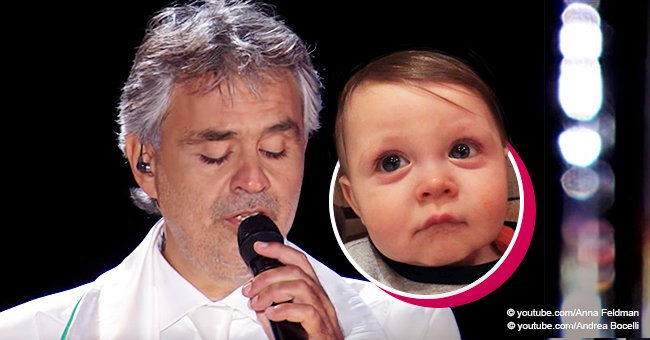 Toddler Couldn't Hide Feelings after Hearing a Magical Performance by Andrea Bocelli