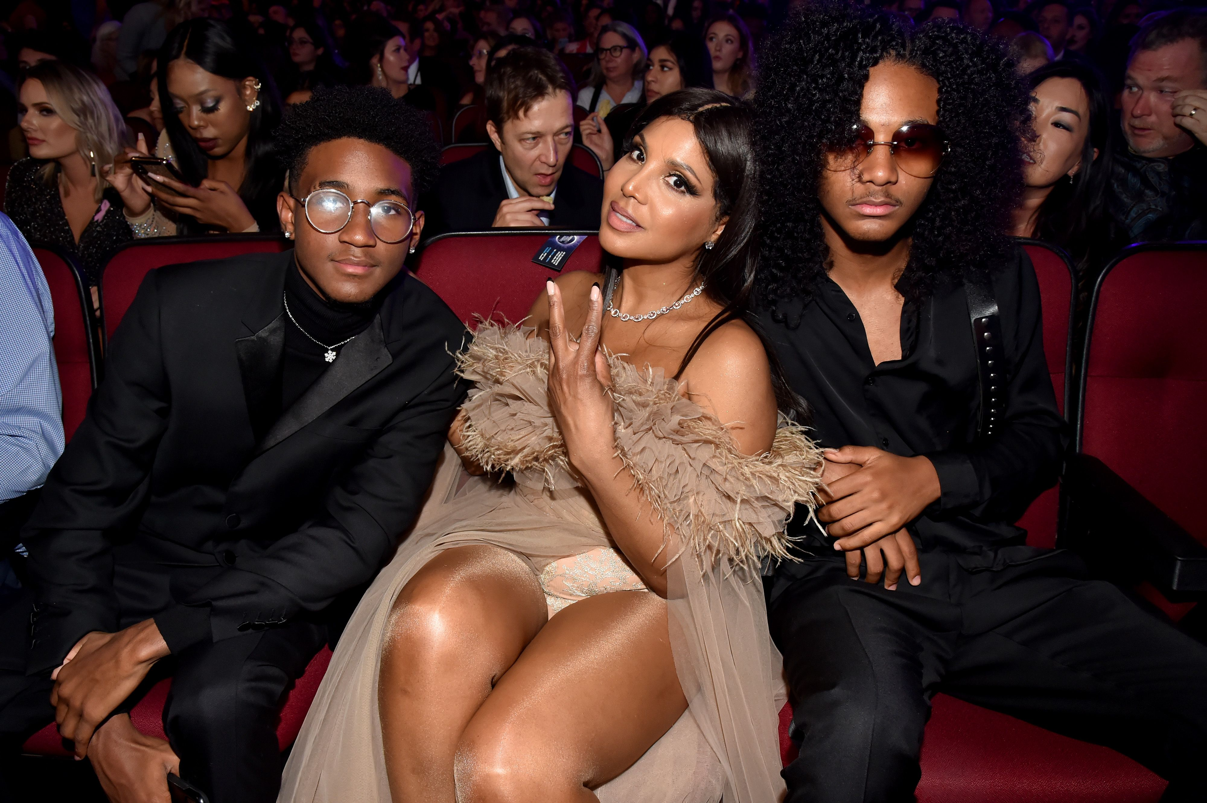 Toni Braxton and her family attend the 2019 American Music Awards at Microsoft Theater on November 24, 2019 in Los Angeles, California. | Source: Getty Images
