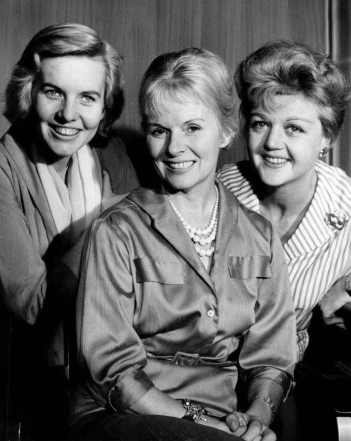 """Ann E. Todd with Patricial Cutts (left) and Angela Lansbury (right) pose in CBS' """"Playhouse 90"""" in 1959 