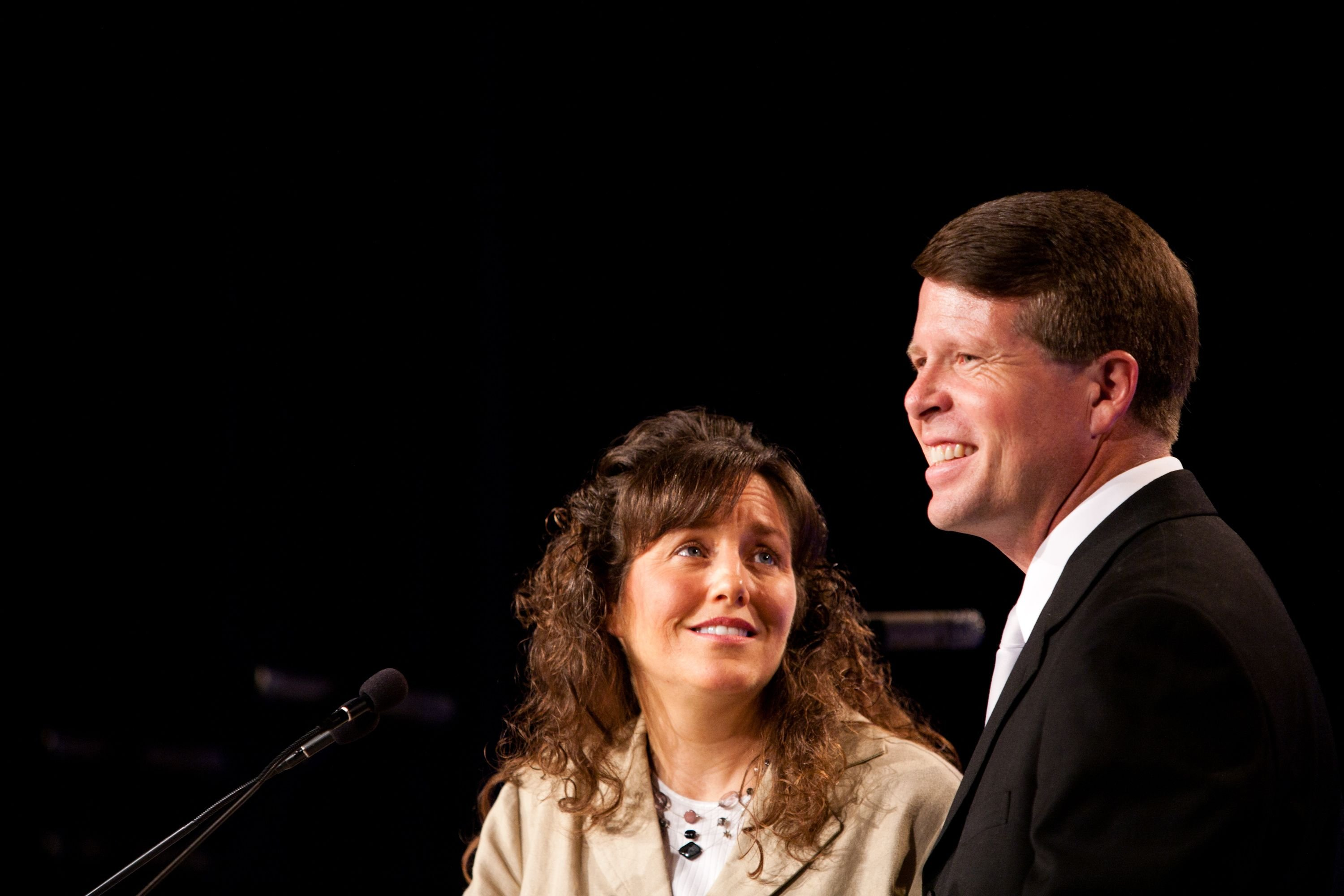 Michelle and Jim Bob Duggar speak at the Values Voter Summit on September 17, 2010, in Washington, DC.   Photo: Brendan Hoffman/Getty Images