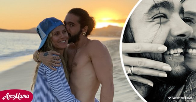 Heidi Klum flashes long-awaited engagement ring after almost a year of being in a relationship