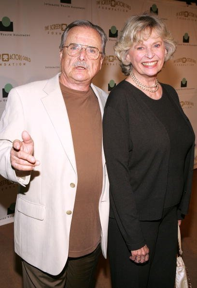 """William Daniels and Bonnie Bartlett arrive at the Screen Actors Guild Foundation's """"Cocktails on Sunset"""" benefit launch party at the Argyle Hotel on July 16, 2005, in Los Angeles, California.   Photo: Getty Images."""