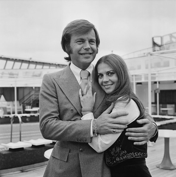 Robert Wagner with his former wife American actress Natalie Wood on April 23, 1972. | Source: Getty Images.