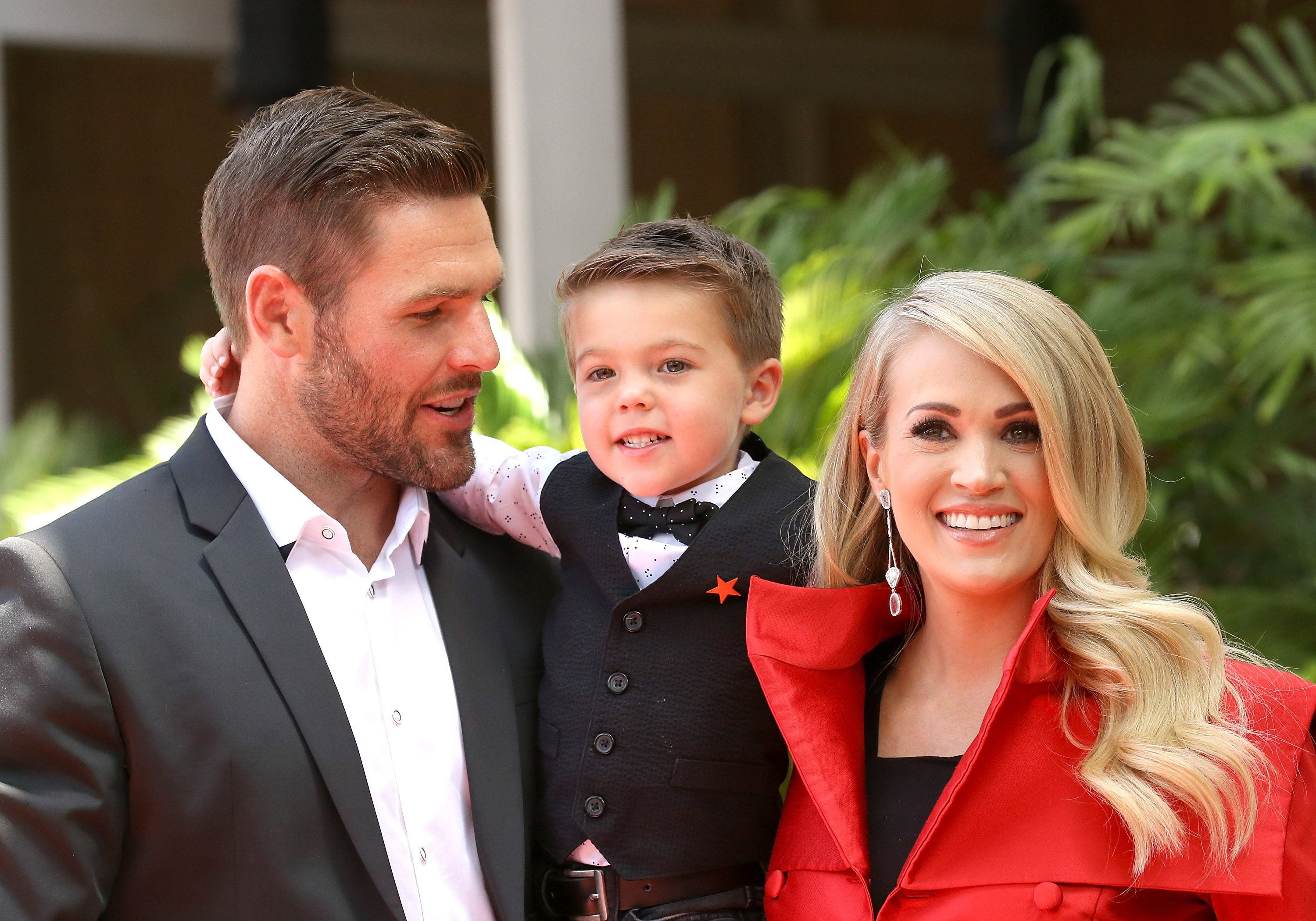 Carrie Underwood, Mike Fisher and their son, Isaiah Michael Fisher attend the ceremony honoring Carrie Underwood with a Star on The Hollywood Walk of Fame held on September 20, 2018 | Photo: Getty Images