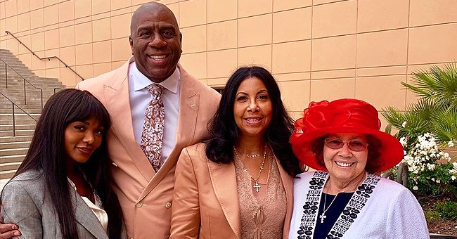 Magic Johnson Celebrates Mother-In-Law's Birthday with Sweet Photo of Her, Wife Cookie & Daughter Elisa