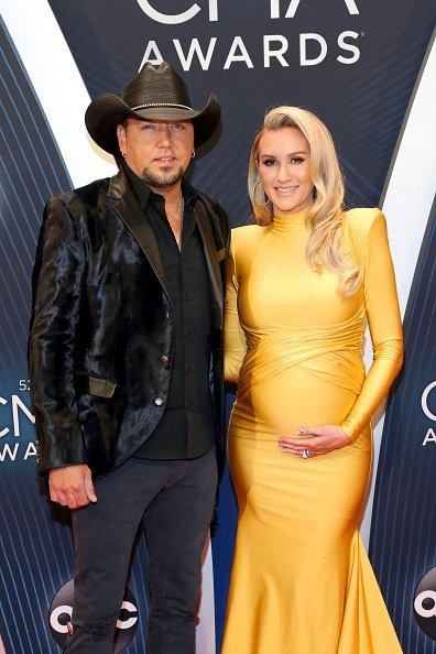 Jason Aldean and Brittany Kerr attend the 52nd annual CMA Awards at the Bridgestone Arena on November 14, 2018 in Nashville, Tennessee |Getty Images
