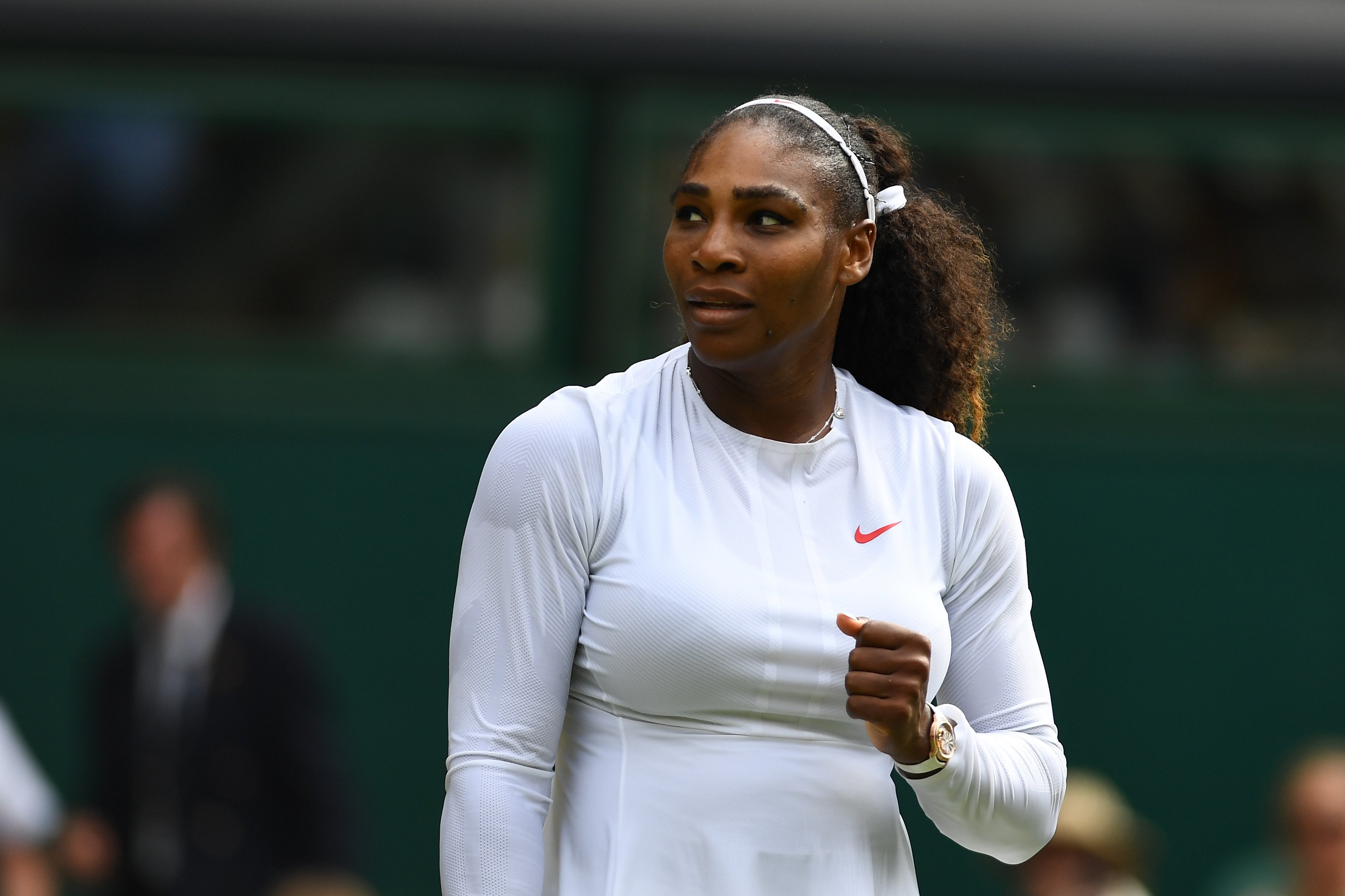 Serena Williams on day seven of the Wimbledon Lawn Tennis Championships on July 9, 2018 in London, England| Photo: Getty Images